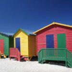 Farbiges Strandhaus